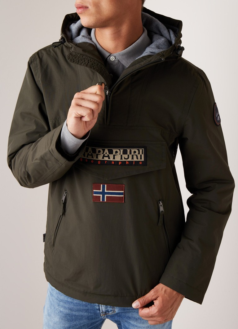 Napapijri - Rainforest Thermal anorak met patches - Donkergroen