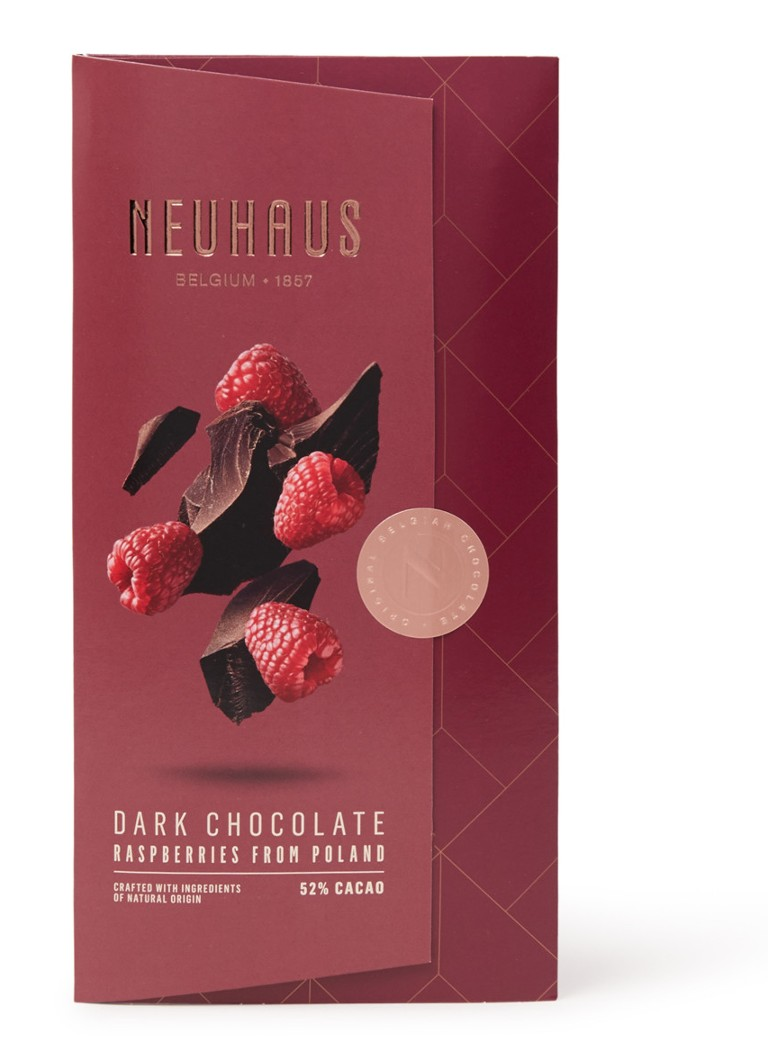 Neuhaus - Dark Chocolate Raspberries from Poland chocoladereep 100 gram - null