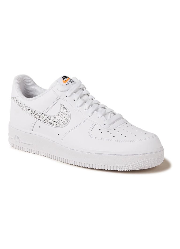 size 40 52df6 a2e2c Nike Air Force 1  07 LV8 JDI LNTC sneaker in uni • de Bijenkorf