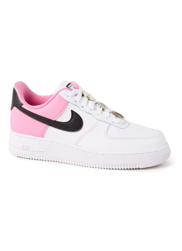 Nike - Air Force 1 '07 sneaker van leer met applicatie - Wit