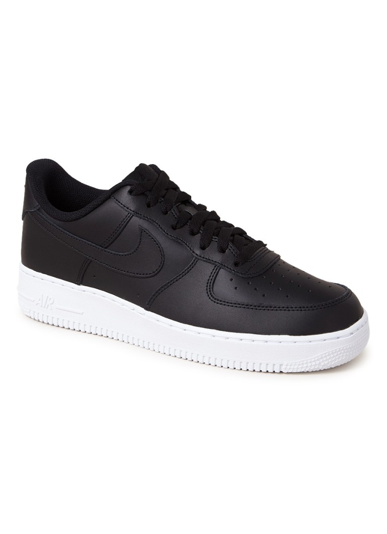 Nike - Air Force 1 '07 sneaker van leer - Zwart
