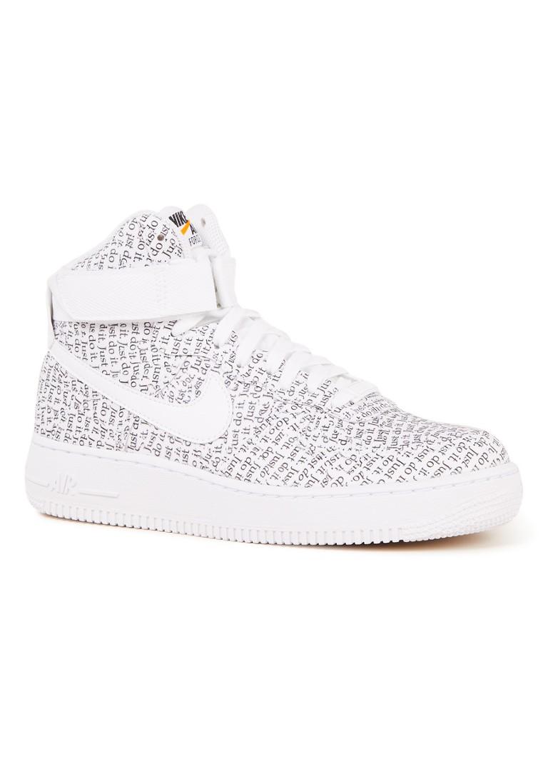 promo code cfbe2 4b21f Nike Air Force 1 High LX sneaker met dessin • de Bijenkorf
