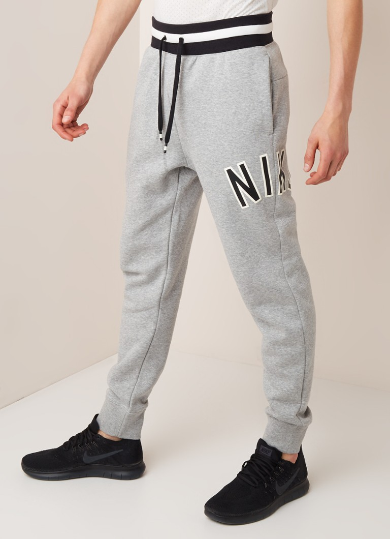 Nike - Air joggingbroek met logoprint - Grijsmele