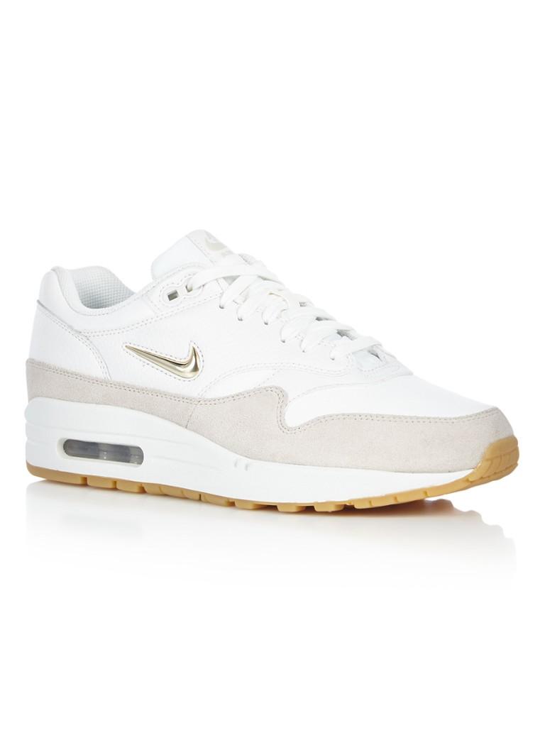 sports shoes c5557 3d863 canada nike womens air max 1 premium bio beige white 16e70 75cec  reduced nike  air max 1 premium sneaker van leer en suède u2022 de bijenkorf c4477 57c3c