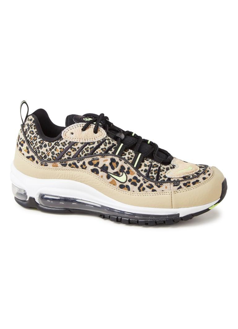 best service skate shoes first look Nike Air Max 98 Premium sneaker met luipaarddessin • de ...