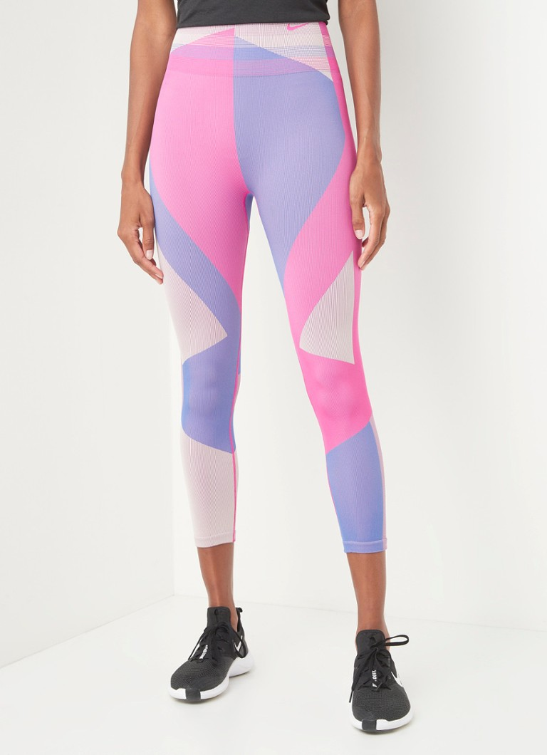 Nike - High waist cropped trainingslegging met Dri-FIT - Roze