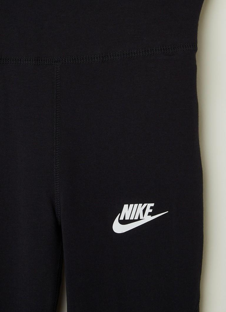 Nike High Waist Legging Met Logoprint Zwart De Bijenkorf