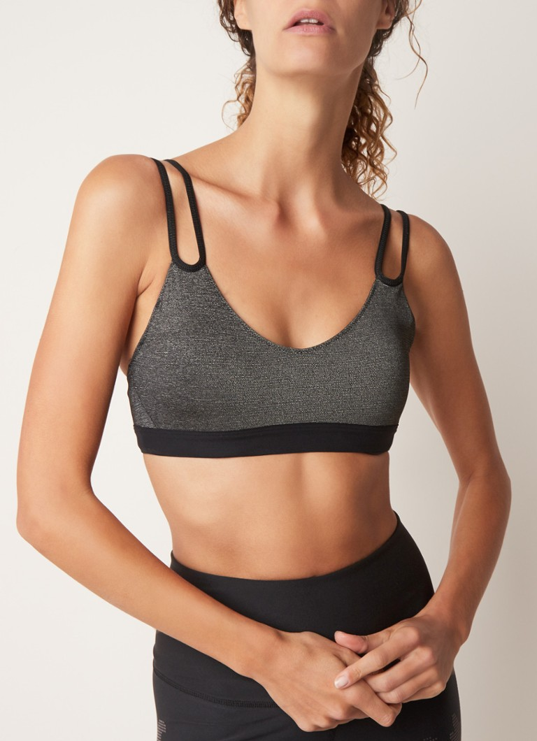 Nike - Indy sport bh met light support en lurex - Zwart