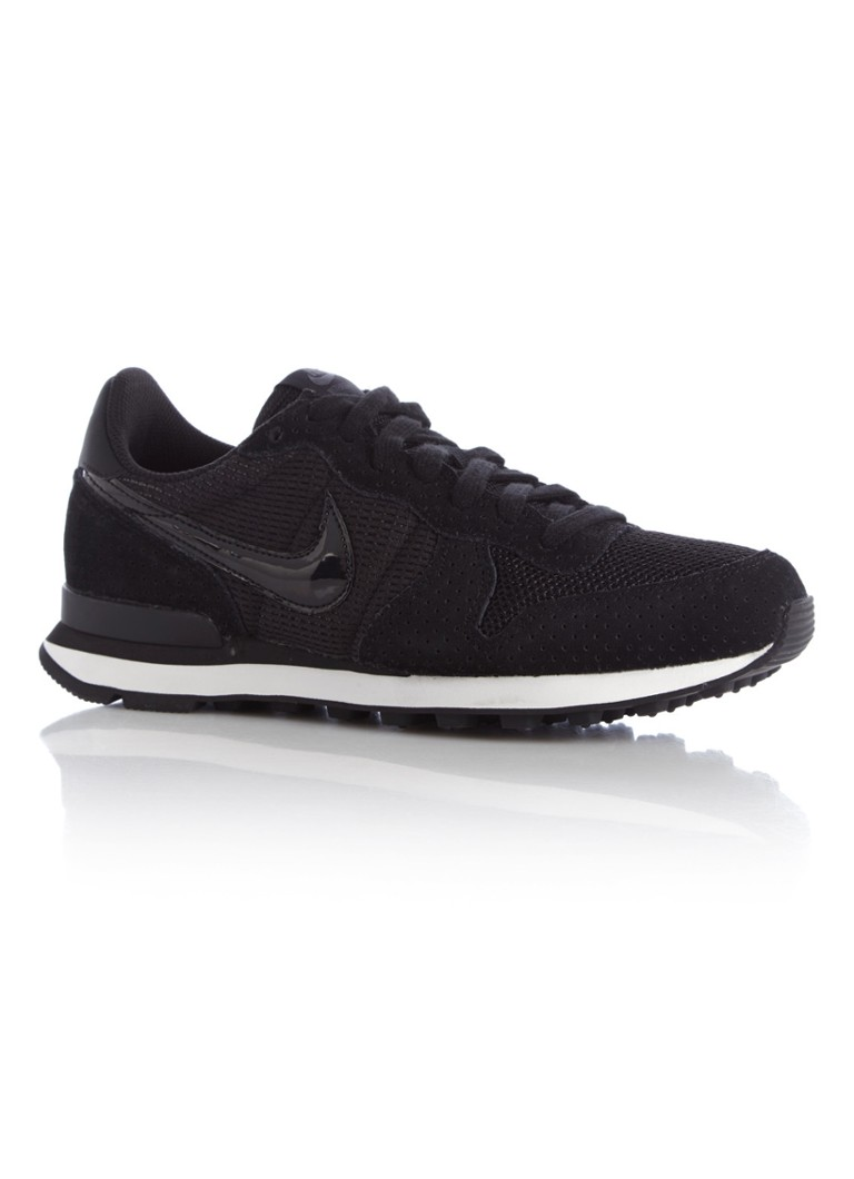 Nike - Internationalist sneaker van suède - Zwart
