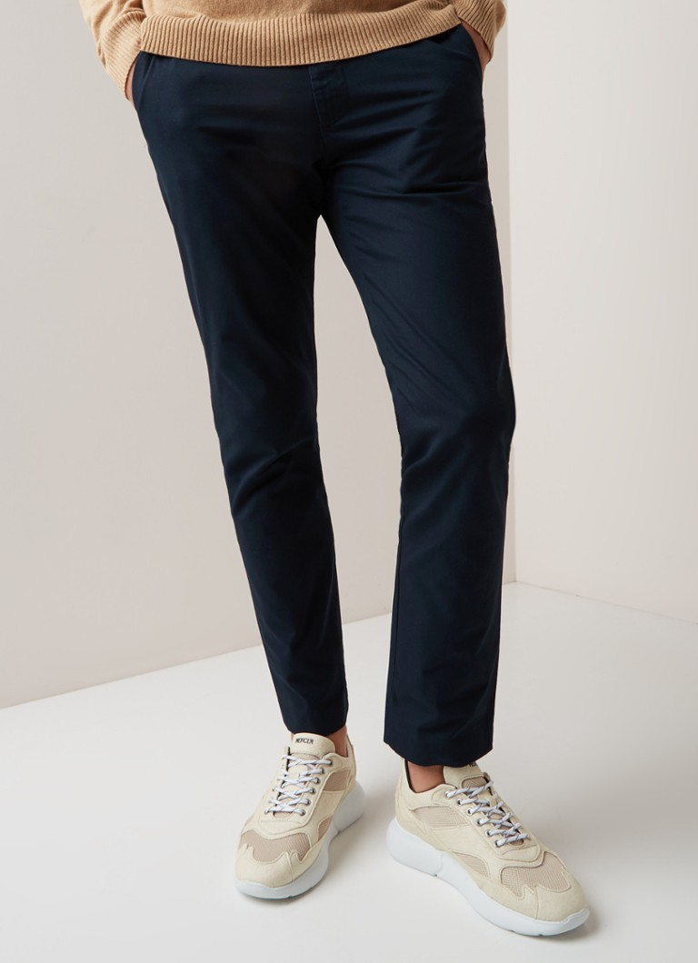 NN07 - Theo slim fit chino met stretch - Donkerblauw