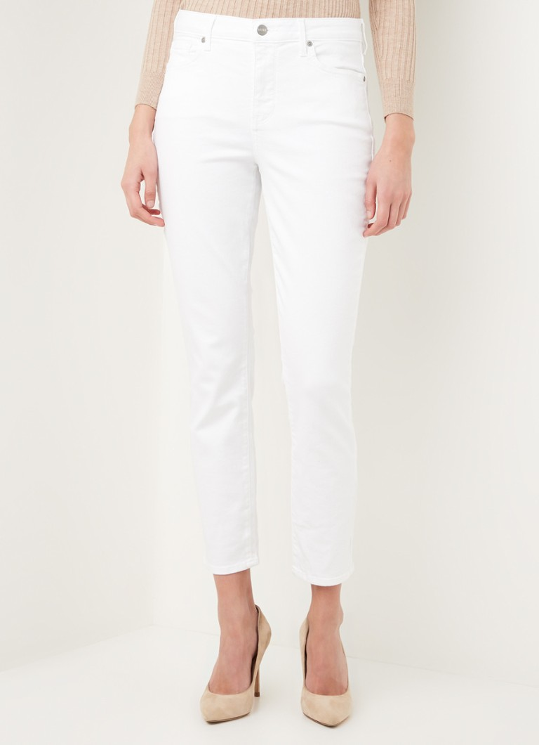 NYDJ - Alina mid waist slim fit cropped jeans met stretch - Wit