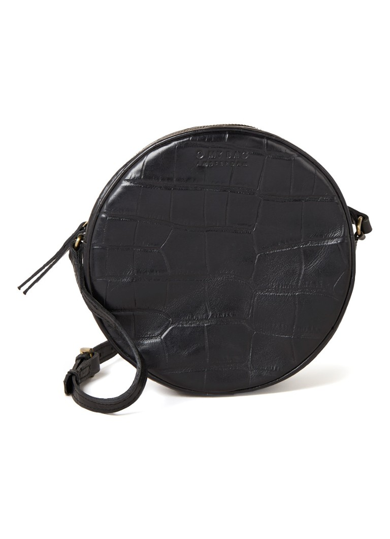 O My Bag - Luna crossbodytas van leer - Zwart