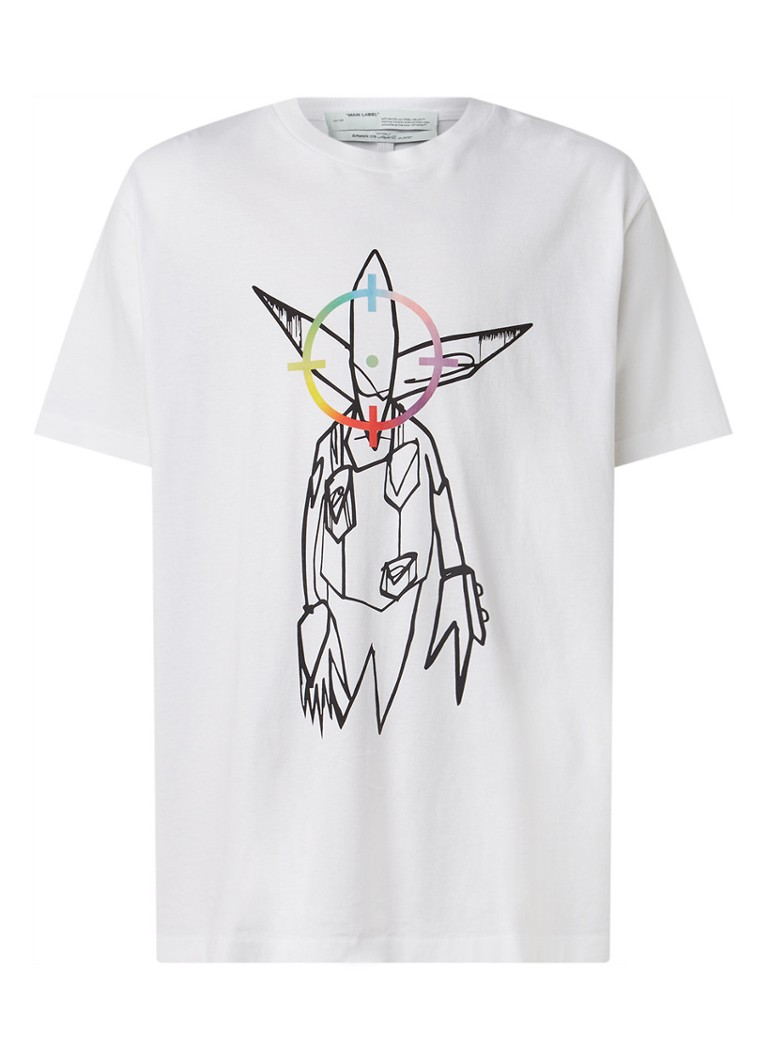 Off-White - Futura Alien oversized T-shirt met print - Wit