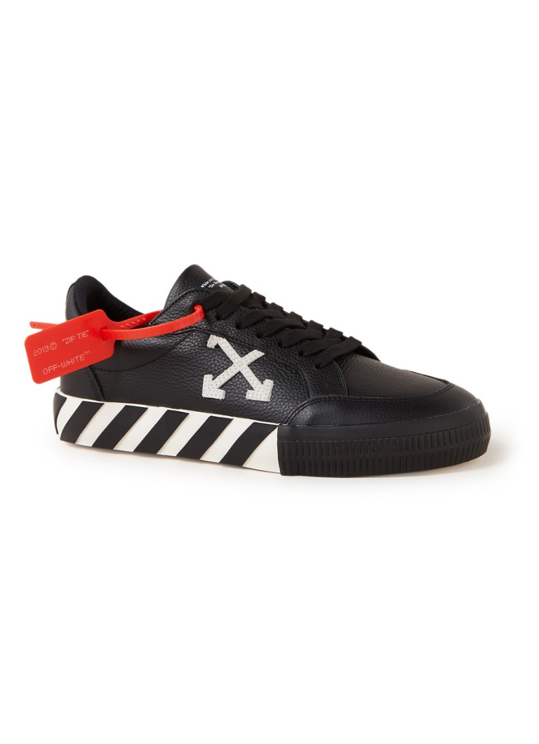 Off-White - Low Vulcanized sneaker van leer  - Zwart