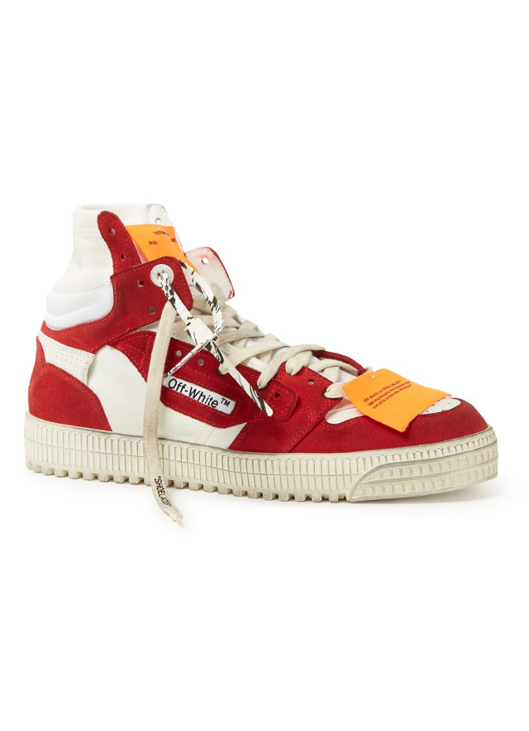 Off-White - Off Court sneakers met suède details - Rood