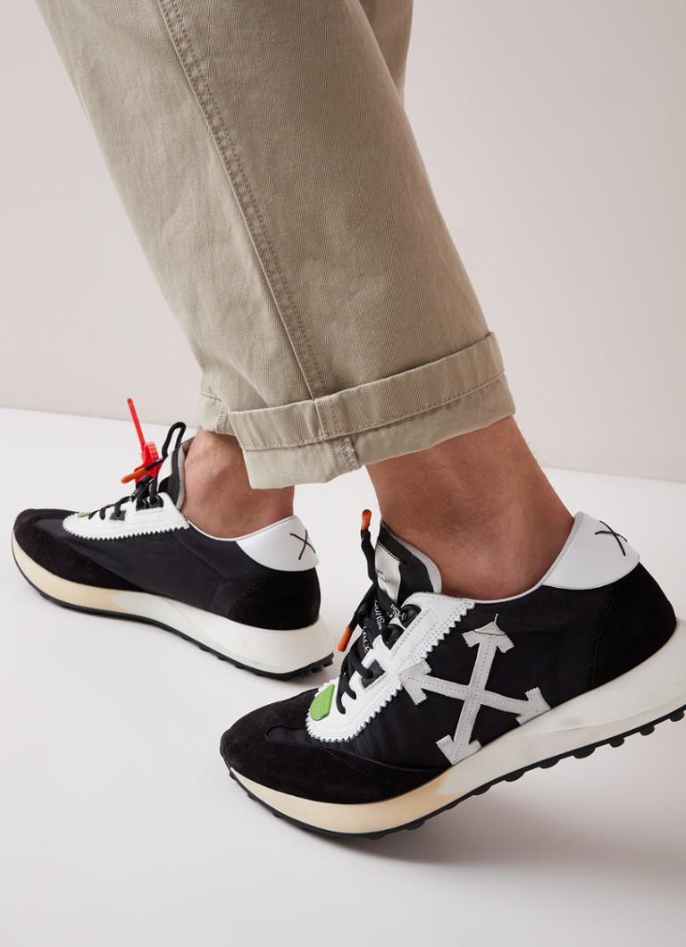 Off-White - Running sneaker met suède details - Zwart - voorkant