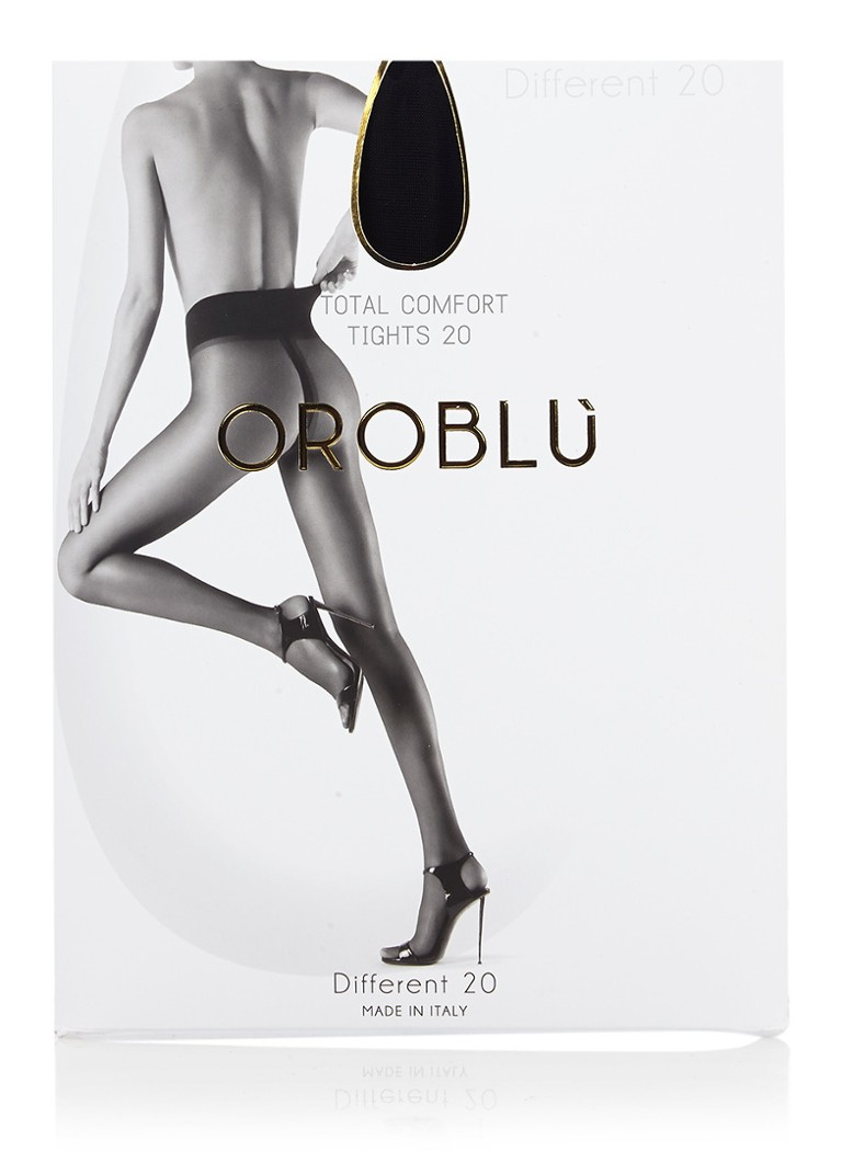 Oroblu - Different panty in 20 denier black - Zwart
