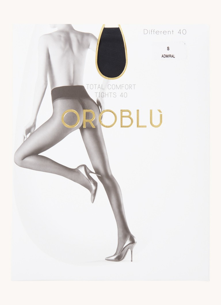 Oroblu - Different panty in 40 denier admiral - Donkerblauw
