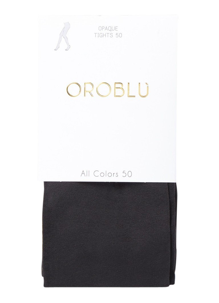 Oroblu - Panty in 50 denier grey - Donkergrijs