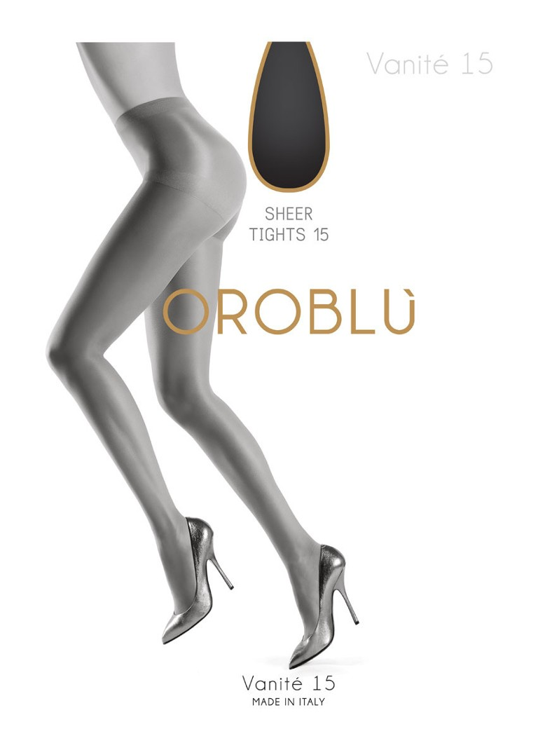 Oroblu - Vanité panty in 15 denier  - Antraciet