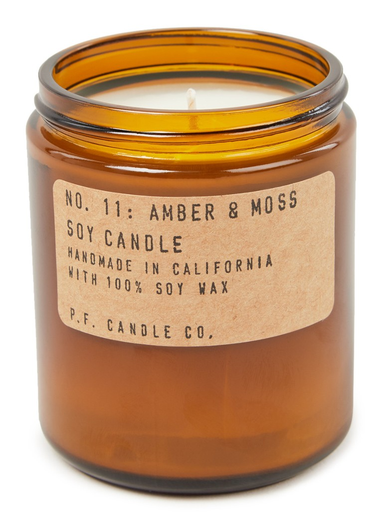 P. F. Candle Co. - No. 11 Amber & Moss geurkaars - Bruin