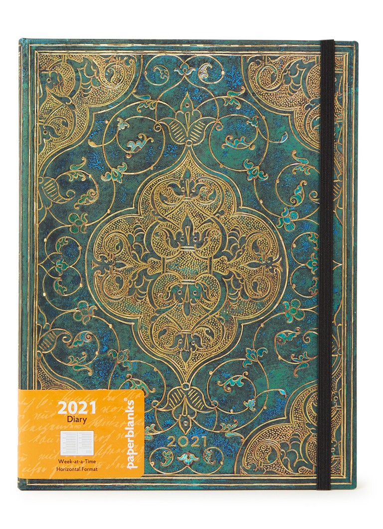 Paperblanks - Turquoise Chronicles Ultra agenda 2021 - Donkergroen