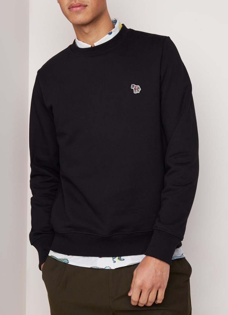 Paul Smith - Sweater met zebra patch - Zwart