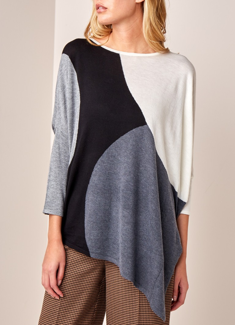 Phase Eight - Cady asymmetrische pullover met colour blocking - Zwart