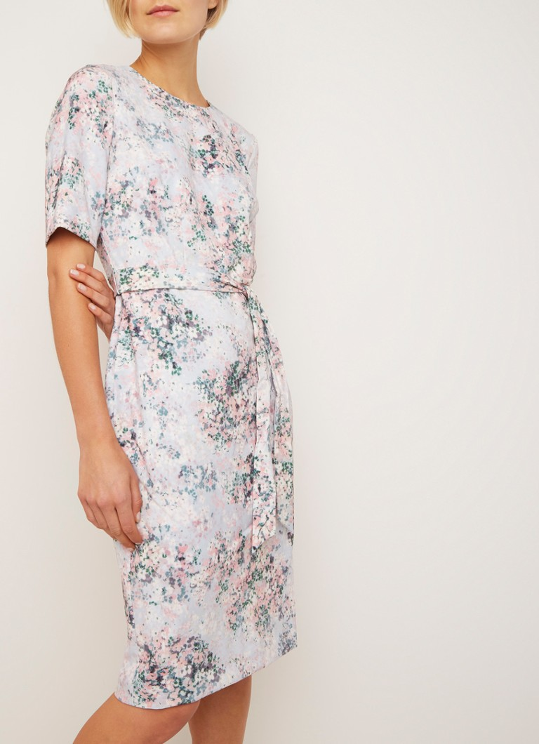 00f45687783 Phase Eight Chantel midi-jurk met bloemendessin • de Bijenkorf
