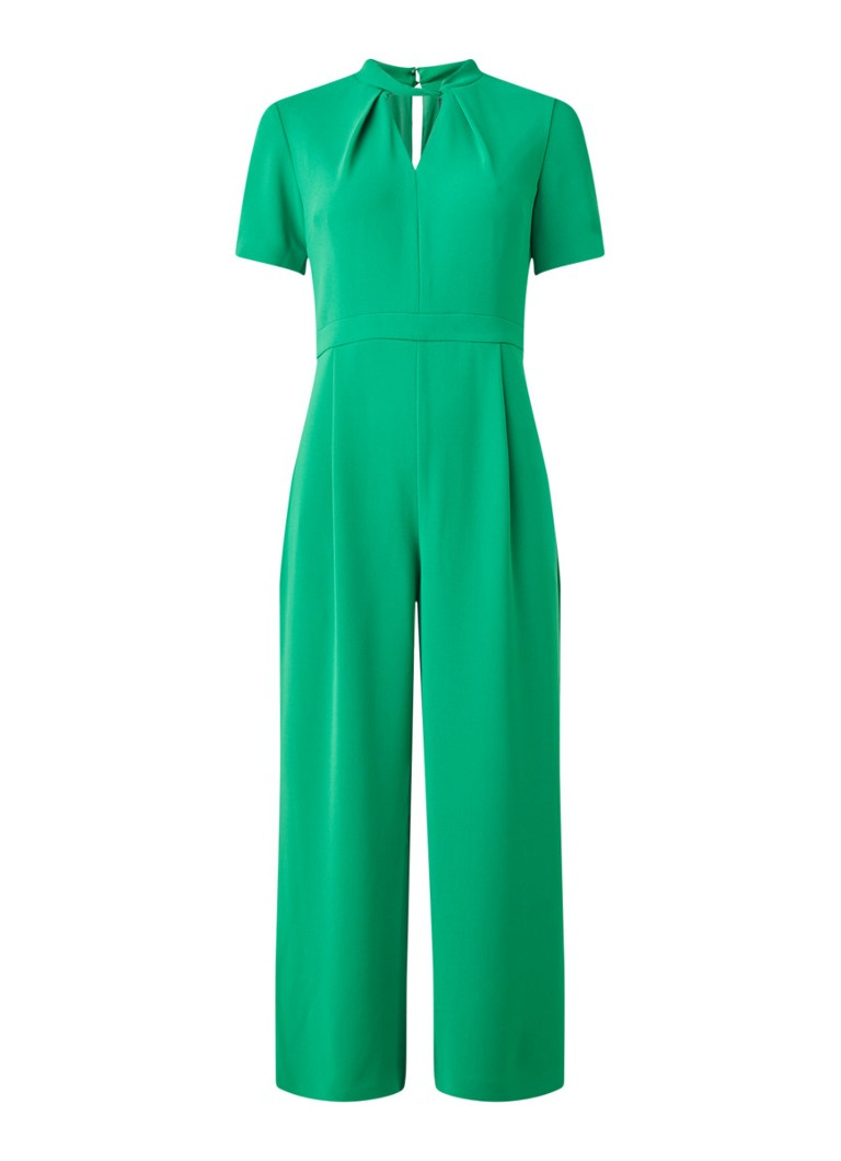 Phase Eight - Constance loose fit jumpsuit met keyhole - Zeegroen