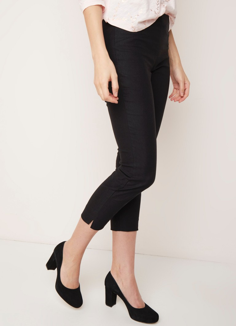 Phase Eight - Hatty high rise cropped slim fit pantalon met stretch - Zwart