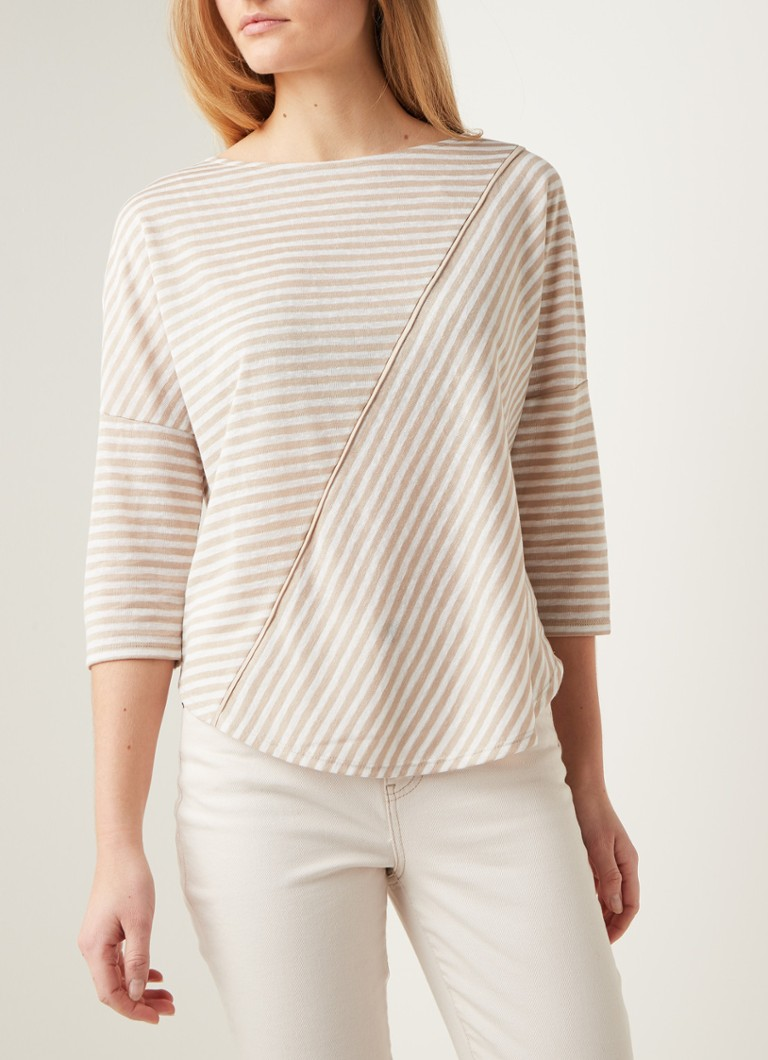 Phase Eight - Jaylee longsleeve met streepprint - Beige