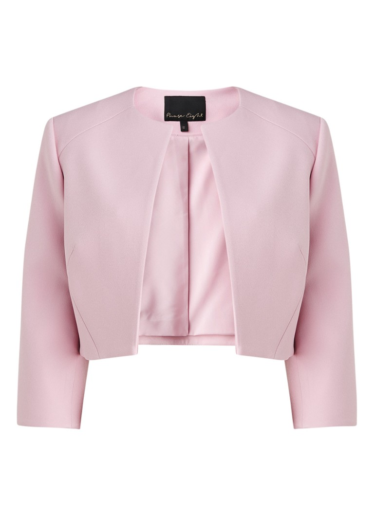 Phase Eight - Keeley cropped blazer met driekwart mouw - Roze