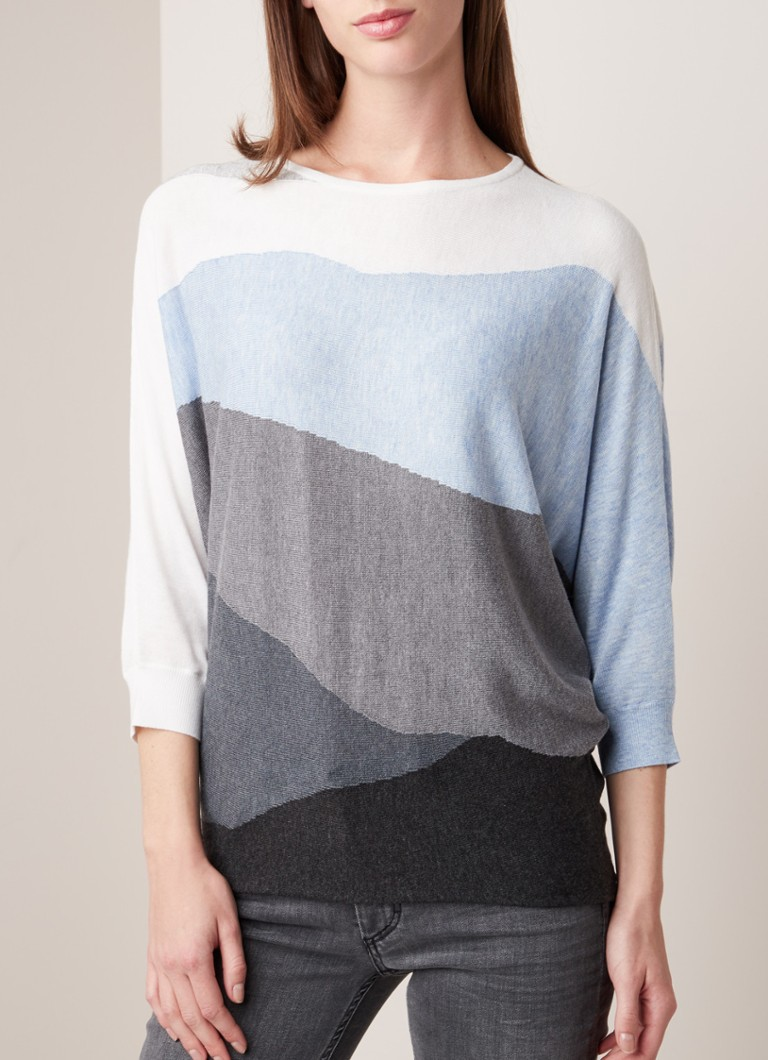 Phase Eight - Larisa pullover met vleermuismouw in wolblend - Multicolor