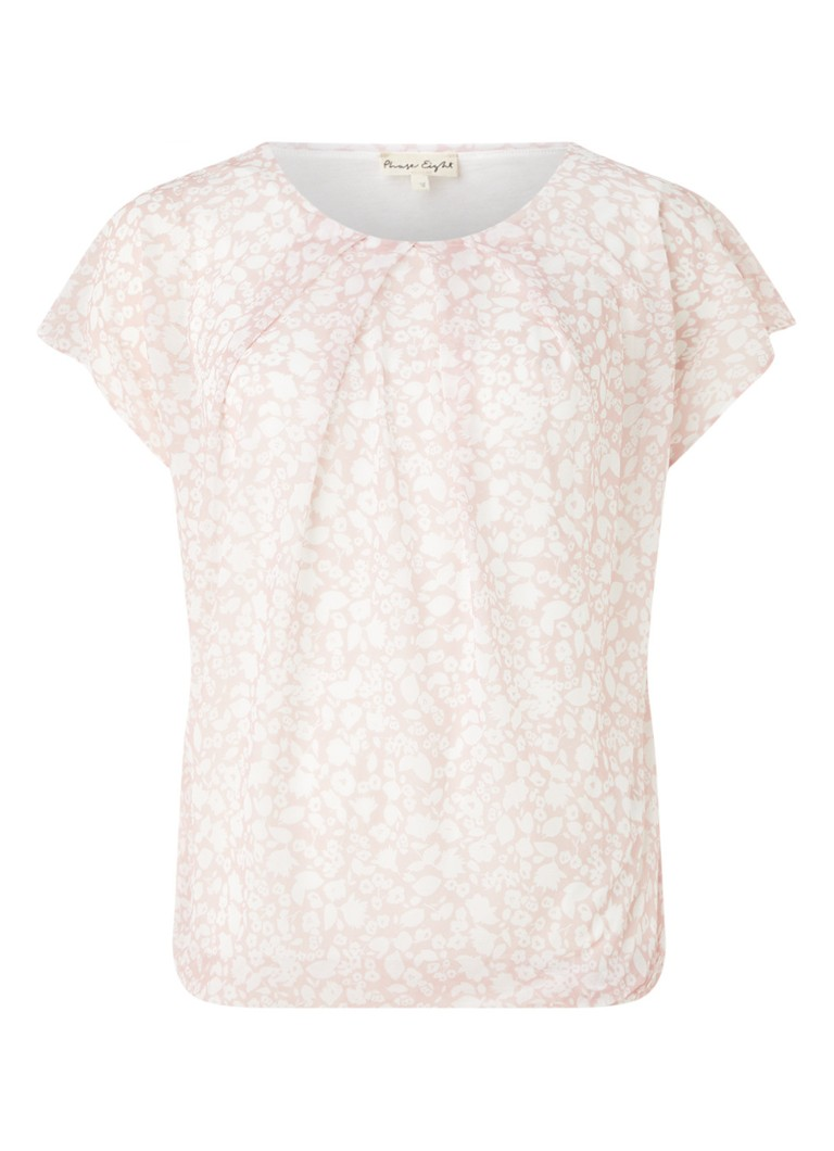 Phase Eight - Livi Florentine top met bloemenprint - Lichtroze