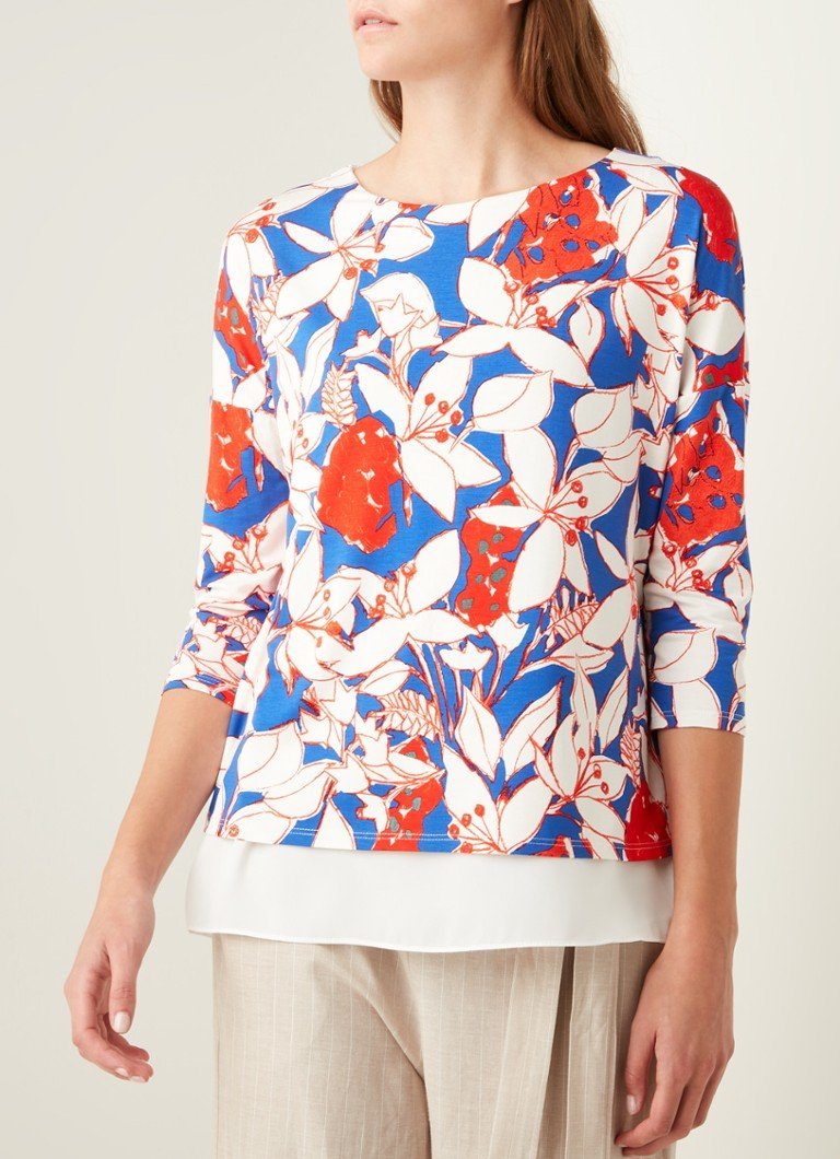 Phase Eight - Mera top met bloemenprint - Gebroken wit