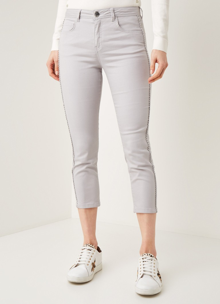 Phase Eight - Pixie mid waist skinny fit cropped jeans - Lichtgrijs
