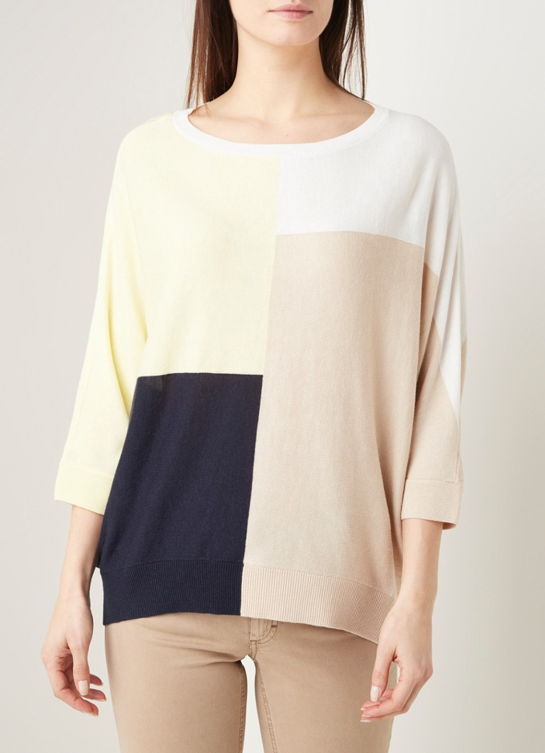 Phase Eight - Regan loose fit top met colourblocking - Multicolor