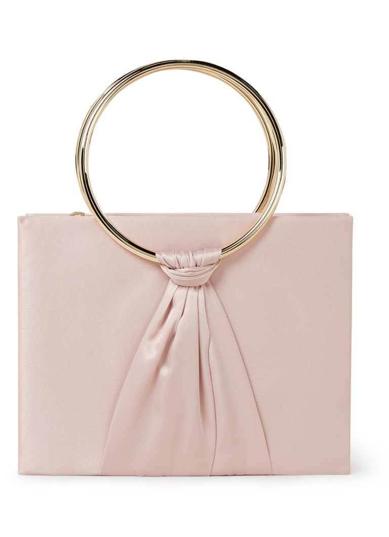 Phase Eight - Rhia Ring clutch met geknoopt detail - Oudroze