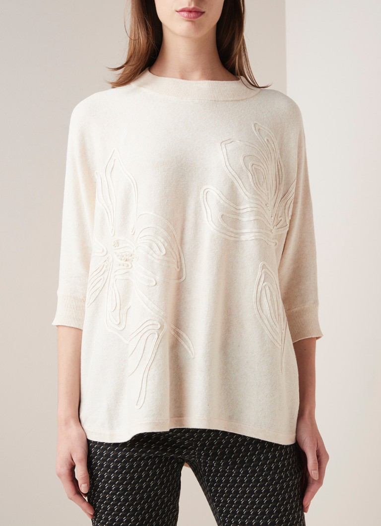 Phase Eight - Tammy oversized pullover met applicatie  - Ivoor