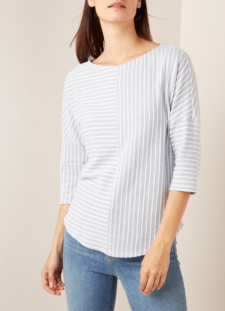 Phase Eight - Tess loose fit top met streepdessin - Lichtblauw