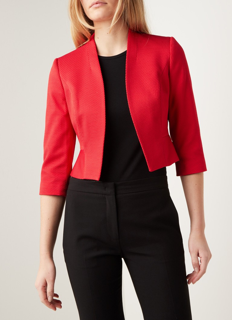Phase Eight - Yani cropped blazer met structuur  - Rood