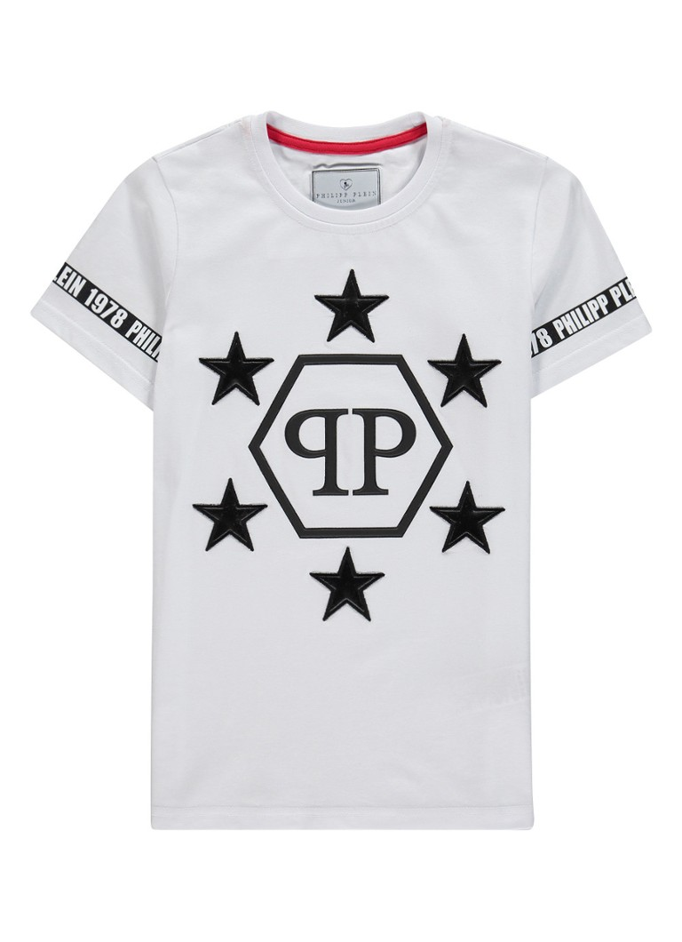 Philipp Plein - T-shirt met logoprint  - Wit