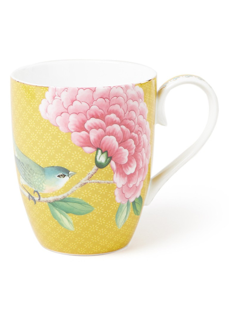 Pip Studio - Blushing Birds mok 35 cl - Mosterd