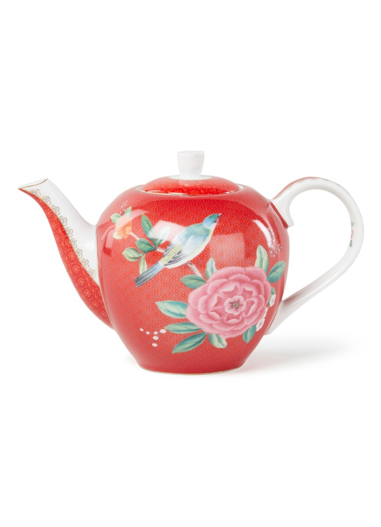 Pip Studio - Blushing Birds theepot 75 cl - Rood