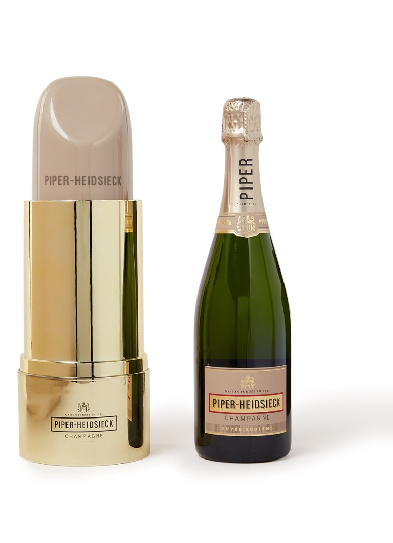 Piper-Heidsieck - Cuvée Sublime champagne met lipstick cadeauverpakking 750 ml - null