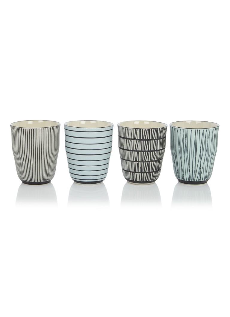 pols potten pastel afresh mok set van 4 de bijenkorf. Black Bedroom Furniture Sets. Home Design Ideas