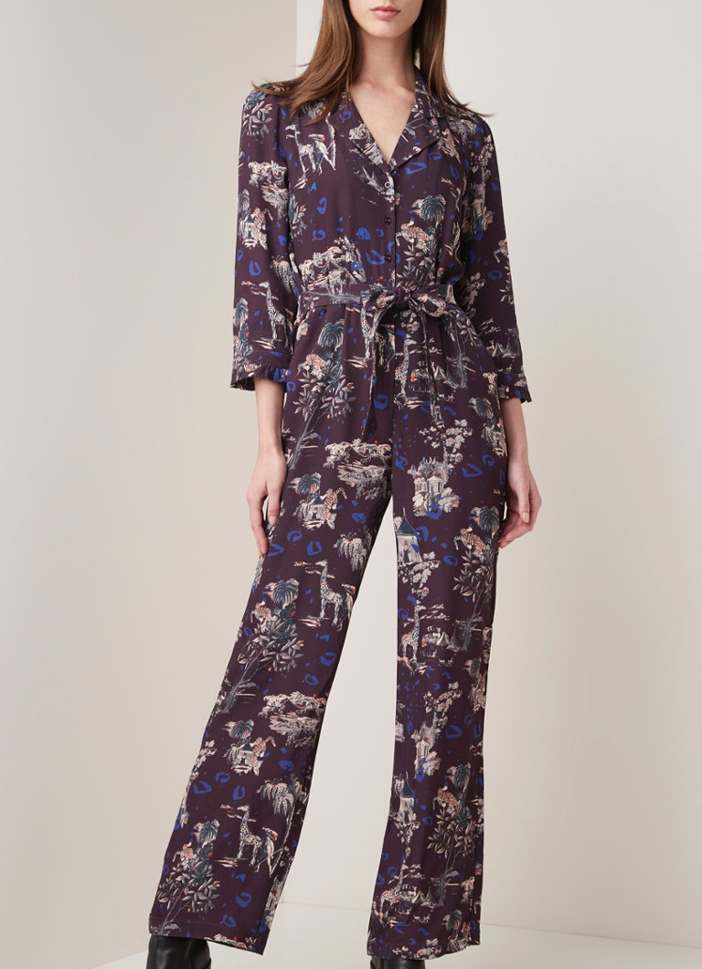 POM Amsterdam - Phantasy festival loose fit jumpsuit  - Bordeauxrood