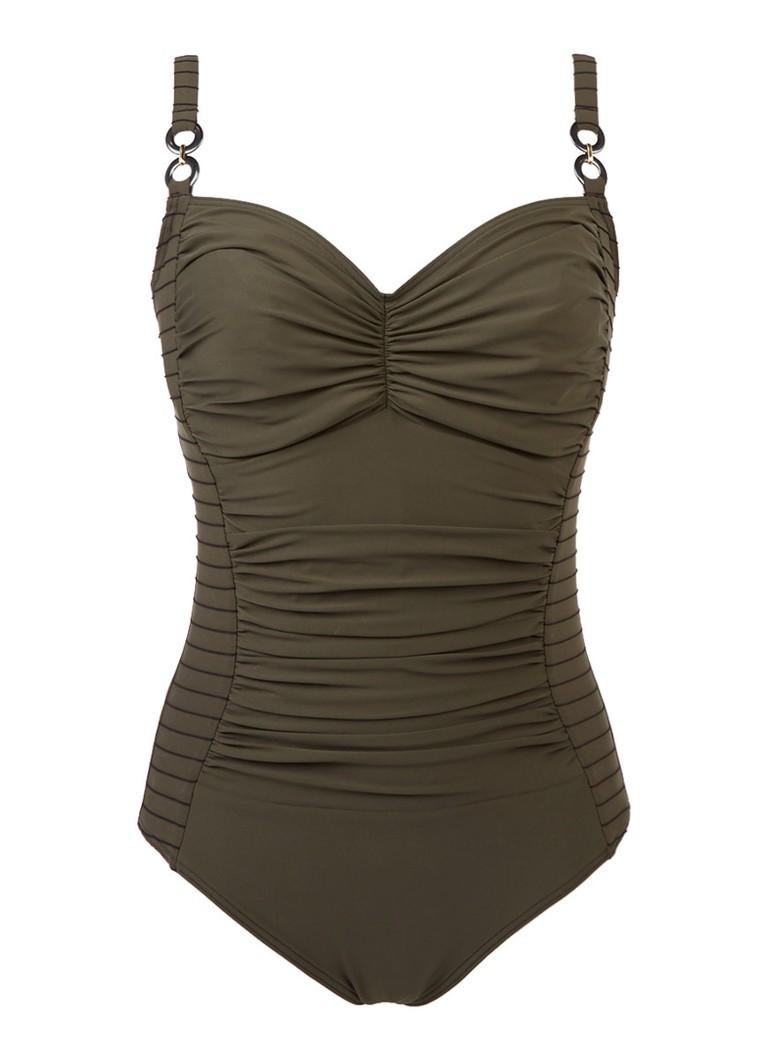 prima donna swim sherry corrigerend badpak met streepdetails de bijenkorf. Black Bedroom Furniture Sets. Home Design Ideas