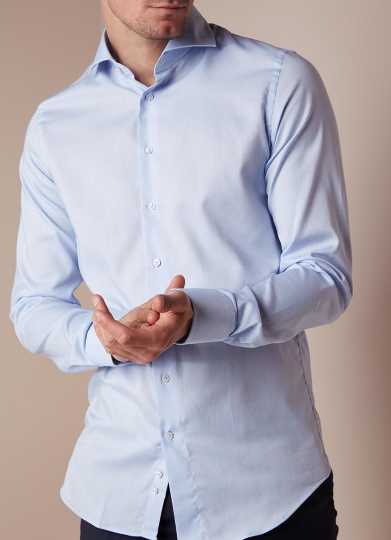 Overhemd Extra Lange Mouw.Profuomo Strijkvrij Slim Fit Overhemd Met Extra Lange Mouw De